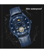 Men Gifts Watch Original Brand Leather Bracelet Moon Design Fashion Romi... - $79.00