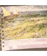 BLANK NOTEBOOK Vincent Van Gogh Seascape with Sailboats Art 160 Pages NEW - $8.99