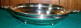 Vintage English Silver Mfg Corp Silverplate Footed Serving Bowl - $24.99
