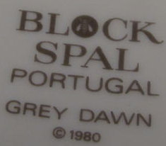 "BLOCK SPAL"" Gray Dawn"" Coupe Cereal Bowl Size: 5 7/8"" Collectible Made In Portug"