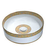 Byzantian Series Ceramic Vessel Sink in Mosaic Gold - $239.01