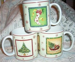 SAKURA  HAPPY HOLIDAYS  MUGS 3  GRACEY KNIGHT CHRISTMAS - $16.82