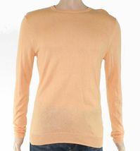 NWT Tasso Elba Men's Cotton Blend Lightweight Crewneck Sweater Orange Si... - $16.74