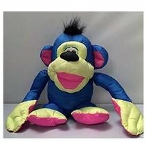 1994 Fisher-Price Puffalump Monkey Chattering Chimp Blue Yellow Pink Plush - $14.11