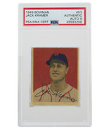 Jack Kramer Signed 1949 Bowman #53 Boston Red Sox Baseball Card PSA/DNA ... - $453.95