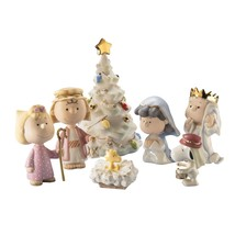 Lenox Nativity Peanuts The Christmas Pageant Figurines Snoopy Charlie Br... - $99.49