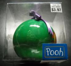Pooh Christmas Ornament Seasonal Specialties 1998 Disney Lightweight Green Ball - $6.99