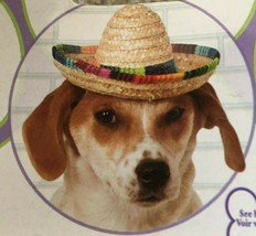Rubie's Pet Shop - Straw Hat Mexican Sombrero - Dog Costume - Size Medium Large - £7.64 GBP