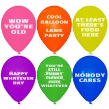 Funny Party Birthday Abusive Balloons Mean 24 Pcs Jumbo Pack Humor Fun P... - $12.52