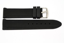 22MM BLACK RUBBER WATCH BAND STRAP FITS CHOPARD STY RACE TIRE TREAD - $14.84