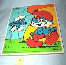 1982 Smurfs Good News Wooden Playskool  Puzzle-325-9--Lot 9 - $13.55