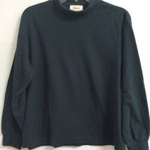 Talbots Womens Pullover Sweater Dark Green Long Sleeve High Neck Petites PM - $15.83