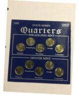 STATE SERIES QUARTERS 1999 COMPLERE YEAR SET PHILADELPHIA- DENVER  - $5.25