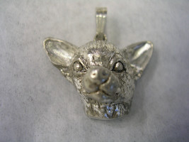 CHIHUAHUA DOG HEAD PENDANT IN STERLING SILVER - $19.75