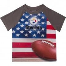 NFL Pittsburgh Steeler T-Shirt Flag Design Short Sleeve Gerber Youth Sel... - €15,04 EUR