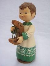 Old World Style Choir Boy Holding Harp Lyre Christmas Decoration - €12,71 EUR