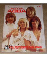 Abba Songbook Best Of Abba Easy Play Speed Music Vintage 1979 - $34.99