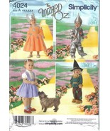Simplicity Costumes Pattern 4024 Wizzard of Oz Childrens' Sizes 1/2 - 4 ... - $7.99