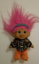 Vintage Troll with Pink hair 6 inch rare - $9.49