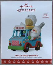 2017 Hallmark Keepsake Santa's Sweet Surprise Music & Lights Ornament - MIB - $19.95