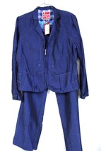 Adventures des Toiles Art to Wear  Half Zip Blue Jacket Pant SUIT NWT $6... - $179.10