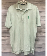 Polo Golf Ralph Lauren Men's Big Pony Vintage Lisle Greenbriar Green Stripe - $12.82