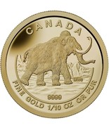 2014 $5 The Woolly Mammoth: Prehistoric Animals - 9999 Pure Gold Coin - $341.76 CAD