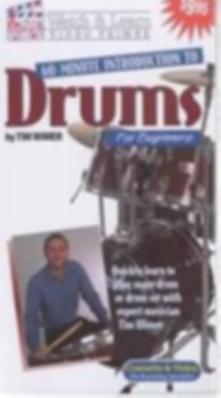 60-minute Introduction to Drums: For Beginners  Vhs