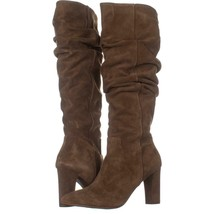Franco Sarto Artesia Pointed Toe Slouch Knee High Boots 269, Light Brown Suede, - $63.35