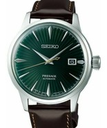 NEW SEIKO SRPD37 PRESAGE GREEN DIAL LEATHER STRAP MEN'S WATCH NWT!!!! - $316.78