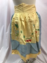 Vintage 1950's Cocktail Apron, Yellow and Blue, Philippines - $14.24