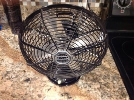 "VINTAGE CINNI ""ART DECO"" STYLE 1 SPEED 9"" Fan Black - $34.65"
