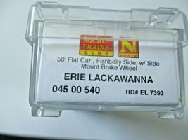 Micro-Trains # 04500540 Erie Lackawanna 50' Flat Car with Load N-Scale image 6