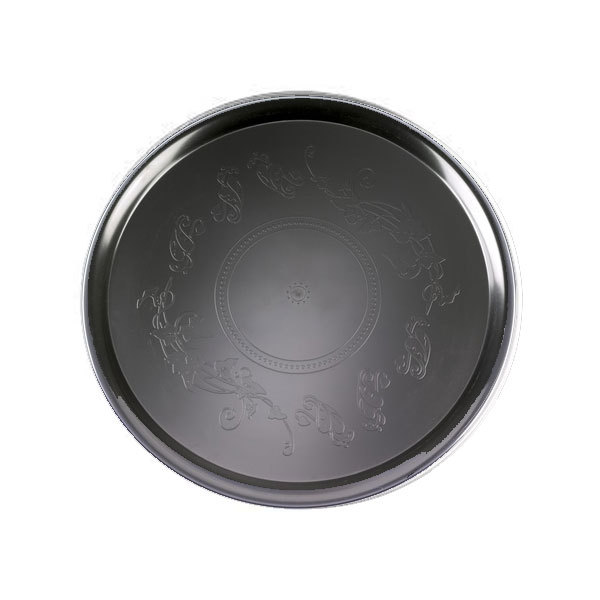 Black 18 Inch Deli Mate Plastic Trays/Set of 25