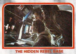 1980 Topps Star Wars Empire Strikes Back Red Cards THE HIDDEN REBEL BASE #16