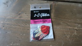 3 New Vintage Dart Flights Glitzer - $5.20