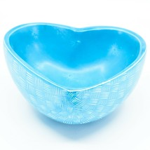 Vaneal Group Hand Carved Kisii Soapstone Blue Heart Decorative Candy Bowl Kenya image 2
