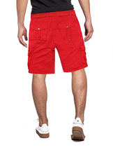 Men's Belted Casual Cotton Multi Pocket Cargo Shorts With Metal Embellishments image 3