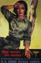 American WWII Propaganda Poster - More nurses are needed U.S.Army Nurse Corps -  - $32.50