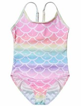 Swimsuits for Little Girls 6t Rainbow Mermaid Bathing Suits Kids Beach O... - $19.58