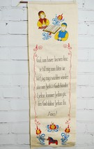 Swedish Prayer Linen Wall Hanging - Dala Horse ... - $98.90