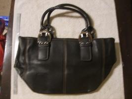 TIGNANELLO Black Pebbled Leather 2-strap Satchel Silver Fixtures - $20.00