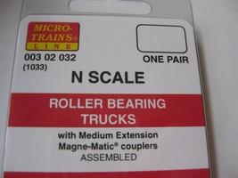 Micro-Trains Stock #00302032 Roller Bearing Trucks w/Medium Extension (1033) (N) image 2
