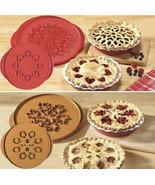 "Nordic Ware 12"" Lattice & Hearts /Leaves & Apple Reversible Pie Top Cutt... - $29.69"
