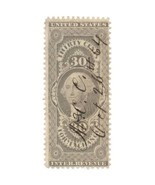 1862-71 30c U.S. Internal Revenue George Washington R51c Foreign Exchang... - £34.03 GBP