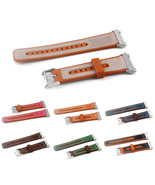 22mm Watch Band Genuine Leather Plus Silicone Starp Replacement for Fitb... - $18.60