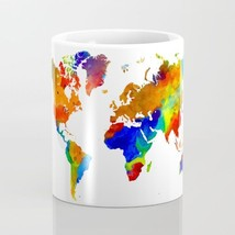 Coffee Mug Cup 11oz 15oz Made USA Design 33 World Map continents L.Dumas - $19.99+