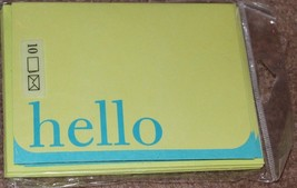 """Cute Blue And Green """"Hello"""" Greeting Cards - $0.99"""