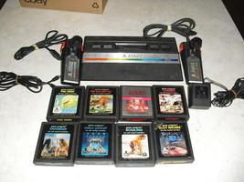 Atari 2600 RAINBOW SYSTEM with joysticks, adapter, 8 GAMES COMBAT,PAC-MAN - $128.69