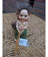 Artist June Karlsen Troll Figurine with Horn Musical Collection Rare Han... - $150.00